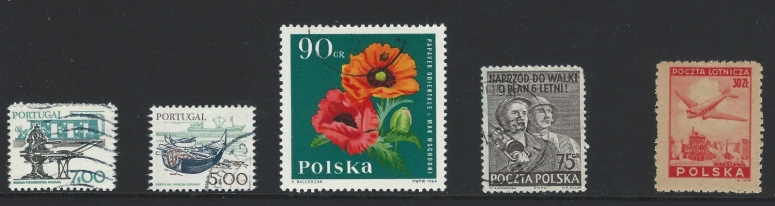 letter P stamps