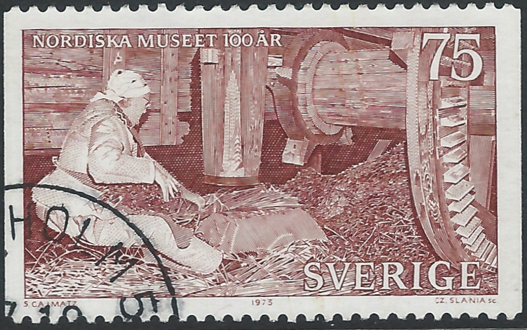 Example of an engraved stamp