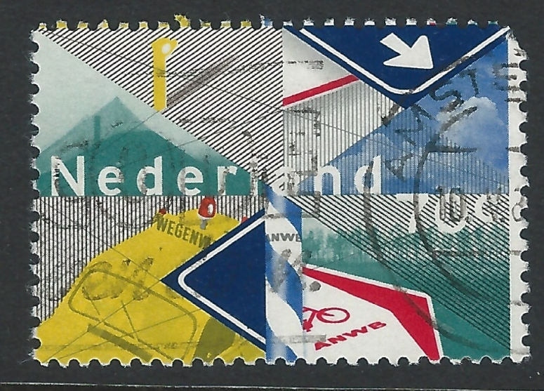 Example of Dutch graphic design on a stamp