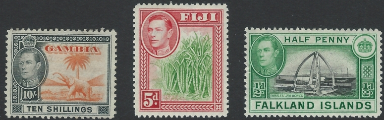 King George VI pictorial stamps